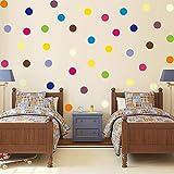 120p Coloré Petits Pois Couleur Stickers Muraux Pour Les Chambres D'enfants Décorations BRICOLAGE Mur Art Stickers Papier Peint Décor À La Maison 110x33 cm