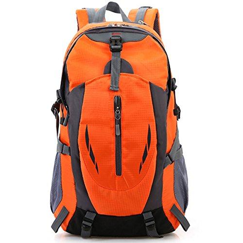 Draussen Sport Klettern Reise Schultern Camping Wasserdicht Wandern Tragbar Nylon Rucksack Orange