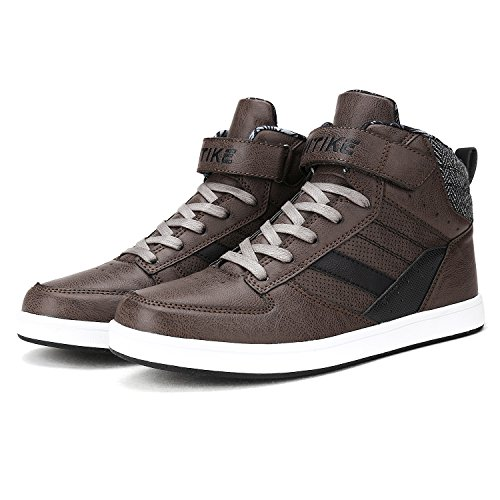 Unisex-Kinder Klettschuhe Hohe Sneaker Herren Outdoor Boots Freizeitschuhe (Up Boot Lace Winter)