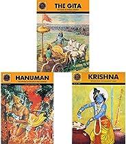 The Gita (Amar Chitra Katha)+Hanuman (Amar Chitra Katha)+Krishna (Amar Chitra Katha)(Set of 3 Books)