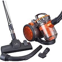 Jata AP999 - Aspirador multiciclónico sin bolsa, filtros anti-ácaro,700 W, color negro y naranja