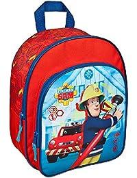 Preisvergleich für Kinder Rucksack - Fireman Sam - Feuerwehrmann Sam - 2 Fächer