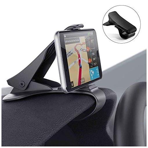Modohe Supporto Auto Smartphone Universale Cruscotto Porta Cellulare Auto per iPhone XS Max/Xs/Xr/X/8/7/6s Plus, Galaxy S10 S9 Note Huawei P20 Xiaomi etc.
