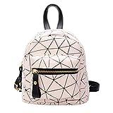AMUSTER Sac à dos en simili cuir sympathique petit sac à dos à main bagage en plein air randonnée mini vacances voyage parti fête (B)