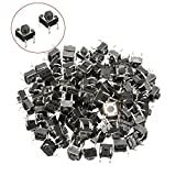 ILS - 100 pieces Tactile Push Button Switch Tact Switch 6 X 6 X 5MM 4 Pin DIP