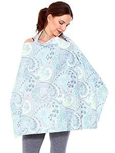 HB HOMEBOAT® Couvertures d'allaitement Nursing Cover Bleu