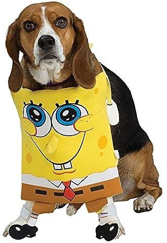 Haustier Hund Katze Tier Spongebob Squarepants Halloween Weihnachtsgeschenk Kostüm Kleid Outfit S-XL - (Square Pants Kostüm)