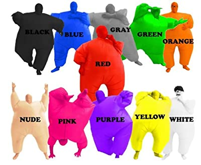 Adult Chub Suit Inflatable Blow Up Color Full Body Costume Jumpsuit 5 Colors