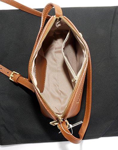 Italiano texture pelle tracolla regolabile triangolare piccola tracolla o borsa a tracolla.Include una custodia protettiva marca Il fumo è aumentato