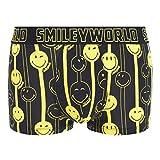 Smiley World Funny Stripe lustige Boxershort Unterhose als Geschenk für Herren Geburtstag und Weihnachten aus Baumwolle M