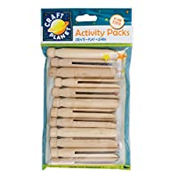Craft Planet 12-Piece Dolly Pegs, Natural