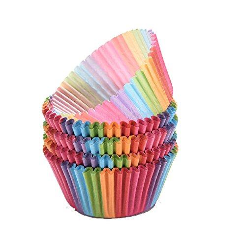 Butterme carta arcobaleno luminoso Standard Baking tazze della torta di