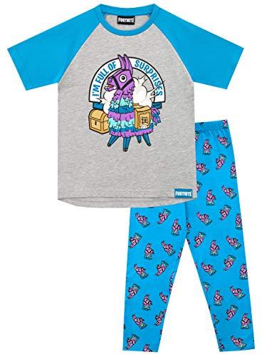 Fortnite Pijamas de Manga Corta para niños Llama 8-9 Años