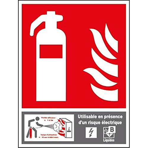 Feuerlöscher-Panel der Klasse B - PVC - 100 x 150 mm (Feuerlöscher Der Klasse A)