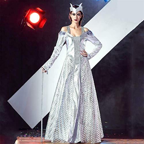 Muster Göttin Kostüm - QIAO Halloween Göttin Cosplay Kostüm Bühnenkostüm T Bühnenkostüm Laufsteg