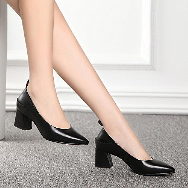 La caída de los zapatos de tacón alto mujer pro mujer zapatos Zapatos silvestre punta negra primavera y otoño...