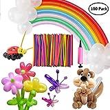Vercrown 100 Piezas Twisty Modelado Globos Largo Magia Arco Iris De Colores Animal Globo Boda Fiesta Cumpleaños Decoración Bolas con Bomba