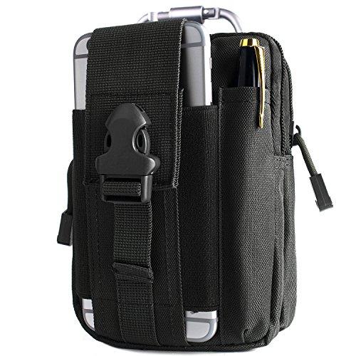 Unigear Taktische Hüfttaschen Molle Tasche Gürteltasche MOLLE Beutel Militär Ideal für Outdoorsport Multifunktionen Praktische Ausrüstung mit Extrafreiem Aluminiumkarabiner