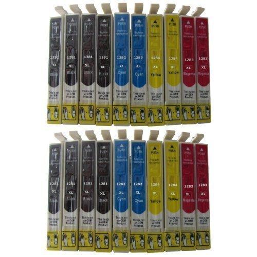 20 komp. XL Druckerpatronen kompatibel für Epson T1281 T1282 T1283 T1284 / sie bekommen 8 x schwarz 4 x blau 4 x rot 4 x gelb / EPSON Stylus Office BX 305 305F / EPSON Stylus S 22 / Epson Stylus SX 125 130 230 235 235W 420 420W 425 425W 435 435W 440 440W 445 445W