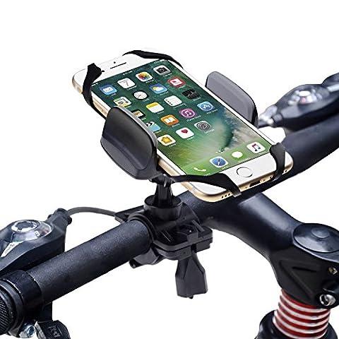 Fahrrad Handyhalterung, Degbit Universal Fahrradhalterung mit Silikonhalterung, Stabile Handy Halterung Halter für Smartphone wie GPS, iPhone 7/ 6, Samsung Galaxy S8/ S7 / S6 Edge , HUAWEI P9/ P10