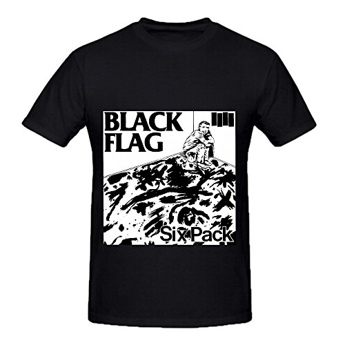schwarz Flag Six Pack Funk Album Cover Herren Crew Neck 100 Cotton Tee Shirts XXX-Large (Tee 6pk Crew)