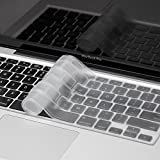 Saco Silicone Keyboard Protector Skin Cover forApple MacBook Air Mac MD232HN/A - 13.3 inch Laptop (Transparent)