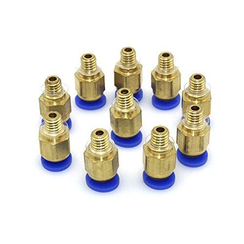 popprint PC4-M6Verbinder gerade Fassung 4-mm-Gewinde M6-Anschluss für 3D-Drucker (10Stück)