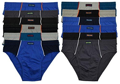12 oder 6 weiche 100% Baumwolle Herren Sport Slips in schönen Farbkombinationen und Muster mit und ohne Eingriff 12er 6er Spar Pack Slip Herrenslip Jungen Man 12 x Farbset 06