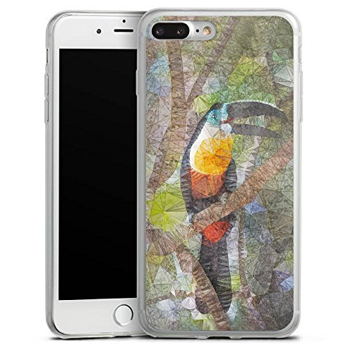 Apple iPhone X Slim Case Silikon Hülle Schutzhülle Papagei Vogel Tucan Silikon Slim Case transparent