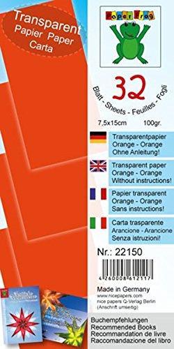 Transparentpapier Orange 7,5x15 cm: Material für