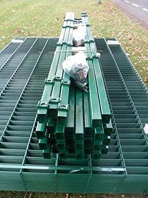BBT@ / Doppelstab-Mattenzaun Komplett-Set / Grün / 163cm hoch / 10m lang / Metallzaun Zaun Zaunanlage Gartenzaun von BBT-Europa - Du und dein Garten