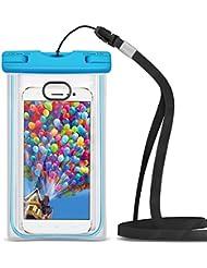 Pochette Étanche [Certifié IPX8] VersionTech Waterproof/Imperméable, Déverrouiller par Empreintes Digitales,Sac/Housse Étanche Universel pour iPhone 7 / 7Plus / 6s / 6 Plus / SE / 5s / 5 / 5c, Galaxy S7/S6 / S5, Huawei etc, jusqu'à 6 pouces