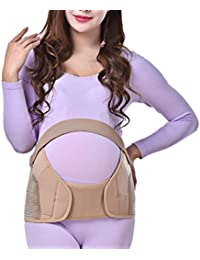 Zhhlinyuan Maternity Support Belt Waist Back Abdomen Belly Band Soft Seamless More Wide for mujeres embarazadas