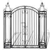 Nishore Cancello Ornamentale da Giardino Ferro Battuto 122x20,5x134 cm