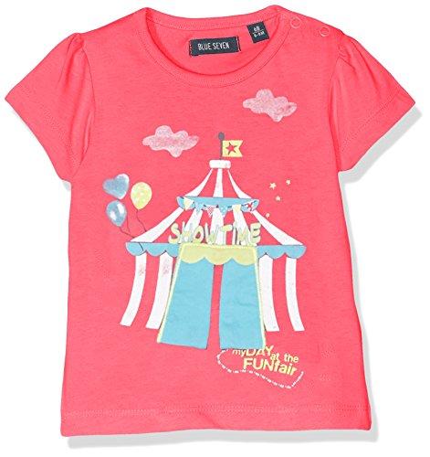 Blue Seven Baby - Mädchen T-Shirt Mini MD 901029 X, Einfarbig, Gr. 86, Rosa (Pink ORIG 424) (Baby-mädchen-shirt-labels)