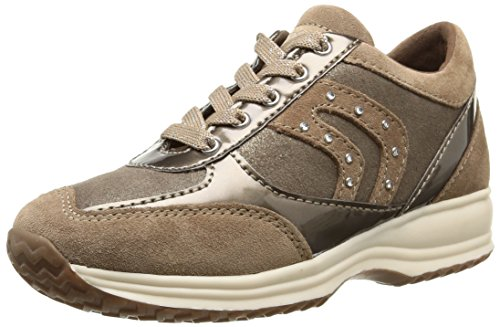 Geox Jr Happy Girl B, Sneaker, Ragazza, Beige (Taupe), 32