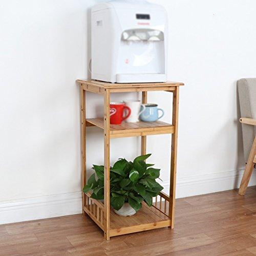 HWF Wasserspender Trinkbrunnen Tee Maschine Rack Blumenständer Couchtisch Wohnzimmer Bambus einfach ( Farbe : 3 layers )