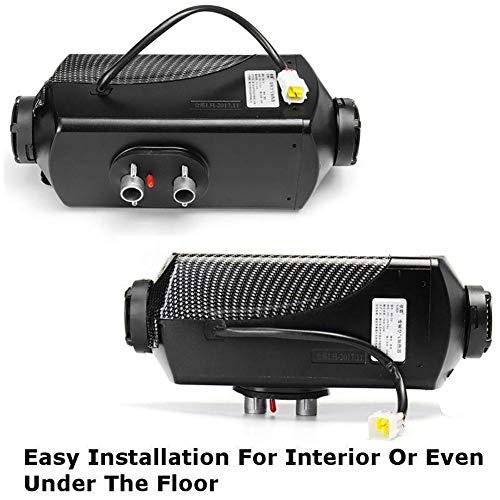 Miju - Riscaldamento per Auto, 12 V, per sbrinamento e disappannamento, con Monitor LCD telecomandato per Camper, A:12V