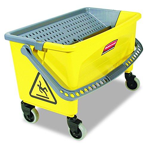 Rubbermaid Commercial HYGEN Press Wring Bucket for Microfiber Mops - Yellow