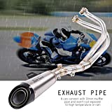 Keenso Motorrad-Auspuffanlage aus Edelstahl, vorne, Mittelrohr für Kawasaki Ninja 650/ER-6F/ER-6N 2012-2015 - 4