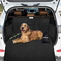 Focuspet Car Boot Liner for Dogs, Non Slip Dog Boot Cover Protector with Bumper Flap, Car Boot Cover for Dogs Waterproof Dirt Resistant with Side Protection 185*105*36 CM Universal for Car SUV Trucks