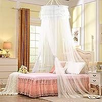 Mosquitera, Infreecs Bed Canopy Blanca Encaje Elegante Blanco protección contra insectos de 12 metros matrimonio o individuales Cobertura Completa Mosquiteros Canopy