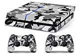 Skin PS4 CAMOUFLAGE MIMETICA SNOW - limited edition DECAL COVER Schutzhüllen Faceplates playstation 4 SONY BUNDLE