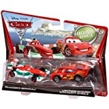 Cars 2 Francesco Bernoulli and Lightning McQueen Diecast Vehicle Two-Pack