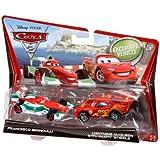 Cars 2 Francesco Bernoulli y Rayo McQueen Diecast vehículo Two-Pack