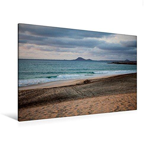 Preisvergleich Produktbild Premium Textil-Leinwand 120 cm x 80 cm quer, Strand im Abendlicht auf den Kapverden | Wandbild, Bild auf Keilrahmen, Fertigbild auf echter Leinwand, Leinwanddruck (CALVENDO Natur)