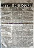 Telecharger Livres REVUE DE L OUEST No 94 du 06 08 1853 JOURNAL POLITIQUE ET D ANNONCES (PDF,EPUB,MOBI) gratuits en Francaise
