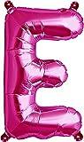 40cm Aire Llena letra E globo magenta (deflactado)