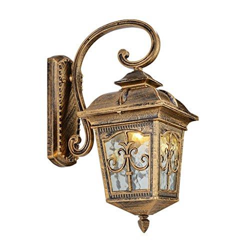 Best wishes shop Lampada da parete- Lampada da parete per esterni da giardino in alluminio con luce impermeabile in alluminio Lampada da parete per scale in stile europeo con balcone retro scale E27