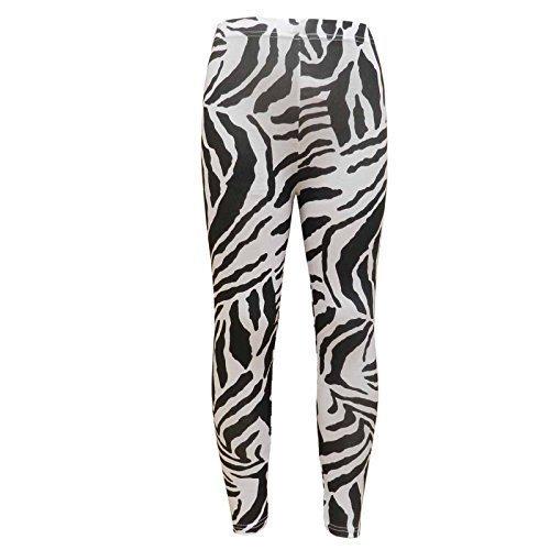 A2Z 4 Kids® Kinder Mädchen T-Shirt Love Tartan Zebra Leopard Aufdruck Modische Mode Tops - Legging New Zebra Print 7-8